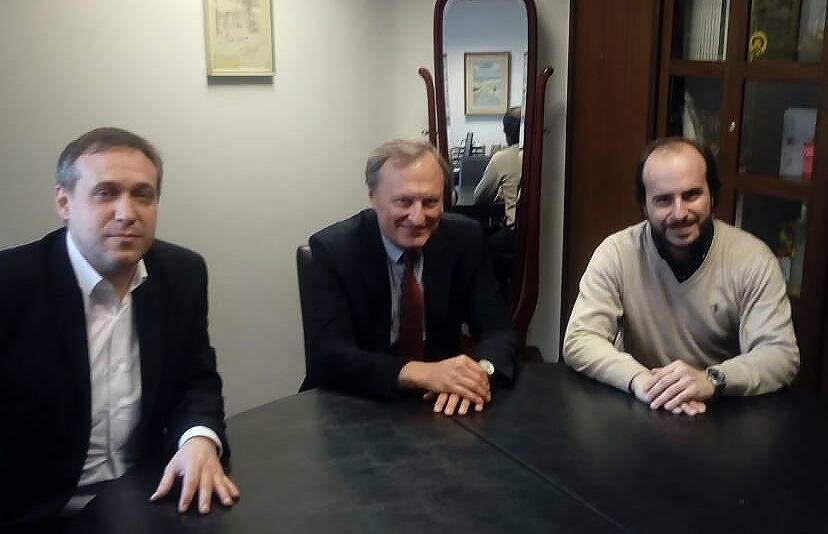 Aleksandar Stankov, v.d. direktora Opere SNP-a, Gintautas Kevišas i Đanluka Marčano, šef dirigent Opere SNP-a